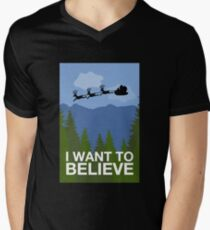 I Want to Believe V-Neck T-Shirt