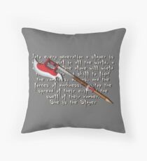 Buffy Slayer Scythe Throw Pillow