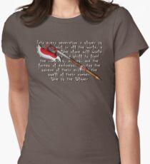 Buffy Slayer Scythe Women's Fitted T-Shirt