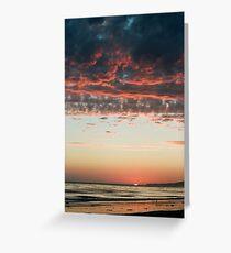 Pink Cumulus Sunset Greeting Card