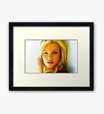 Elisha Cuthbert - Oil Painting Framed Print