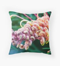 Grevillea Macro Throw Pillow