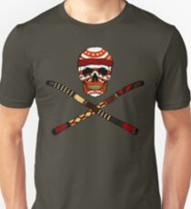 Skull and Crossed Didgeridoo Slim Fit T-Shirt