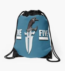 Buffy - Faith 5 by 5 minimalist poster Drawstring Bag