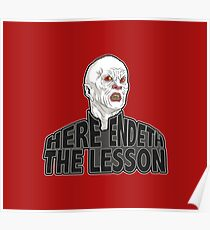 Here Endeth The Lesson Poster
