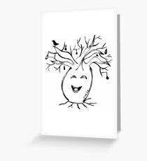 Australian Boab - 'That Tickles' Greeting Card