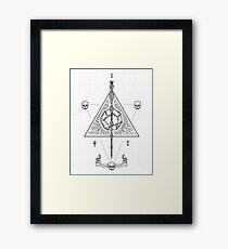 Deathly Hallows (White) Framed Print