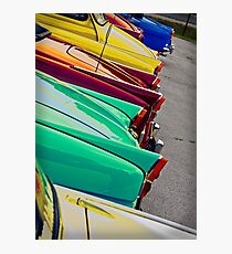 Classic 1960's retro Cars Photographic Print