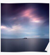 Island at dusk Poster