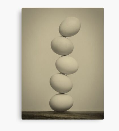 Balancing Eggs Canvas Print