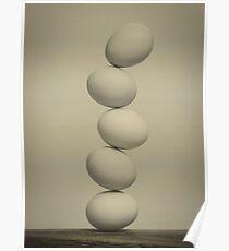Balancing Eggs Poster
