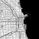 Chicago OpenStreetMap Poster by Traut1