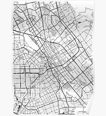 San Jose OpenStreetMap Poster Poster