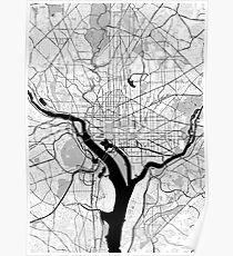 Washington OpenStreetMap Poster Poster