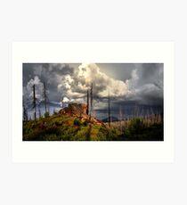 Cascades Glow Art Print