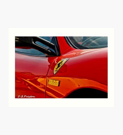 Ferrari - The personal touch  Art Print