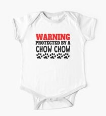 Protected By A Chow Chow One Piece - Short Sleeve