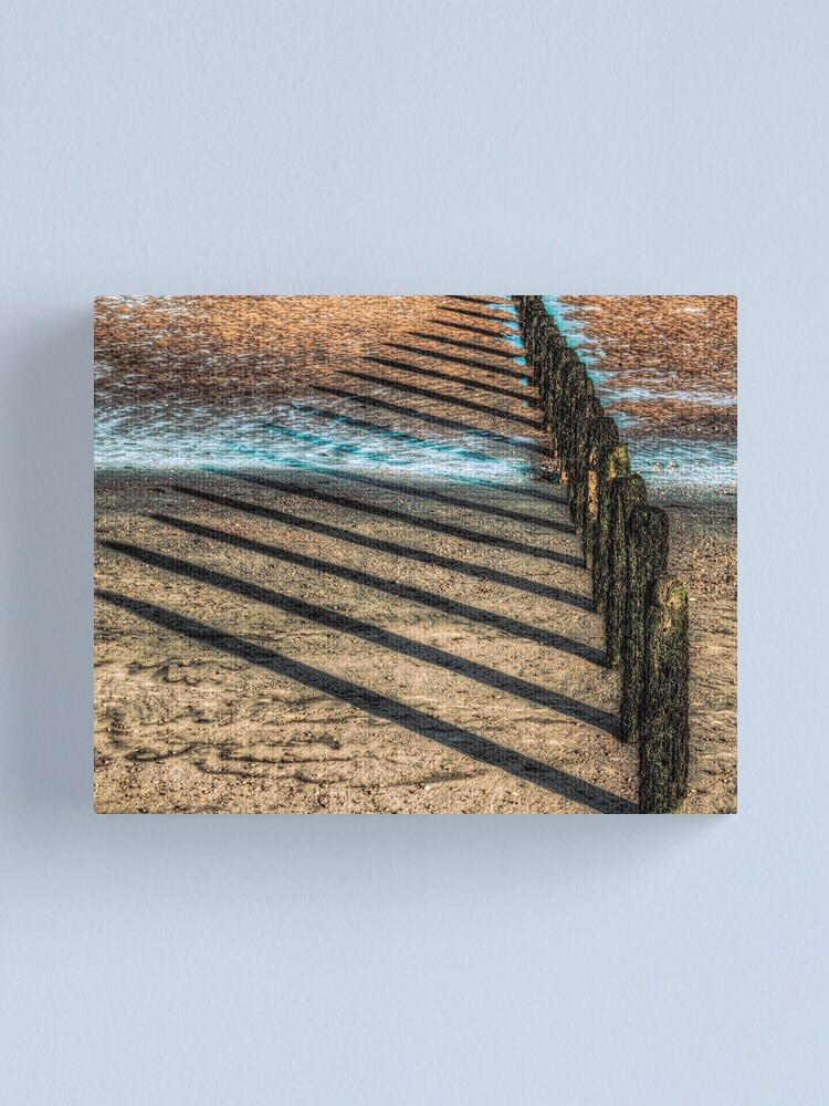 Alternate view of Lines on the Sand Canvas Print