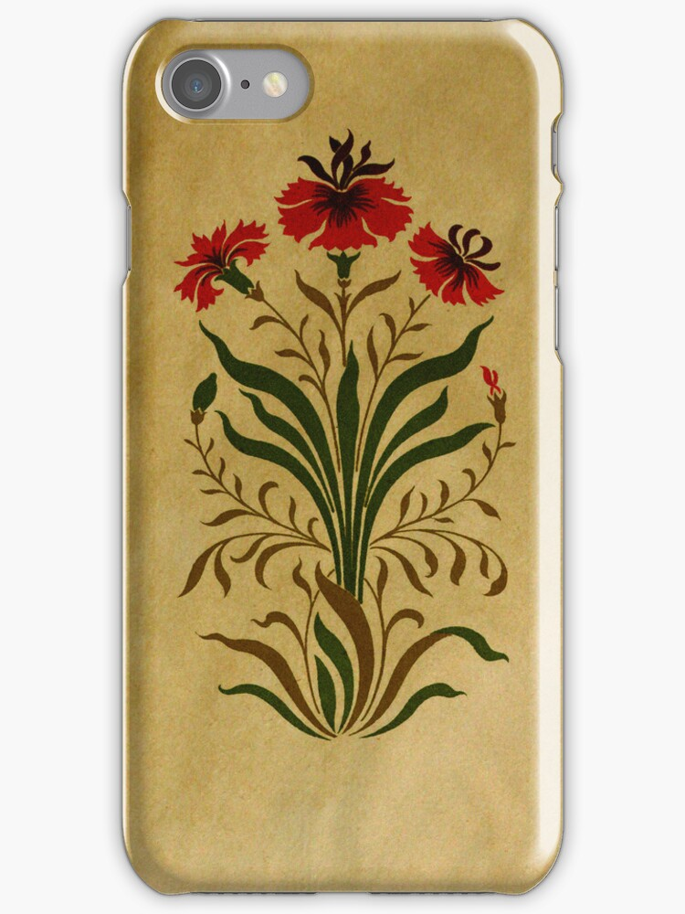 Floral Deco iPHONE Case by Pamela Phelps