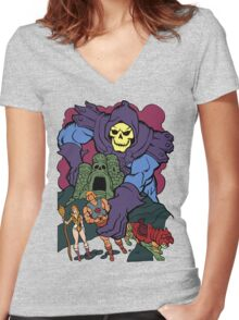 Playing With My Toys Women's Fitted V-Neck T-Shirt