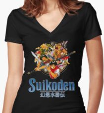 Suikoden Women's Fitted V-Neck T-Shirt
