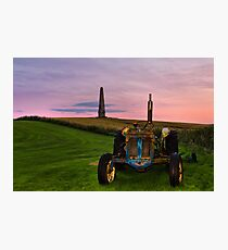 Monument Tractor Photographic Print