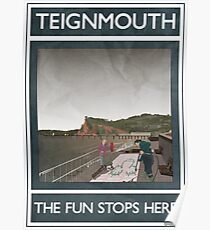 Teignmouth -The Fun Stops Here Poster