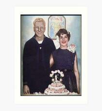 MOM AND DAD WEDDING Art Print