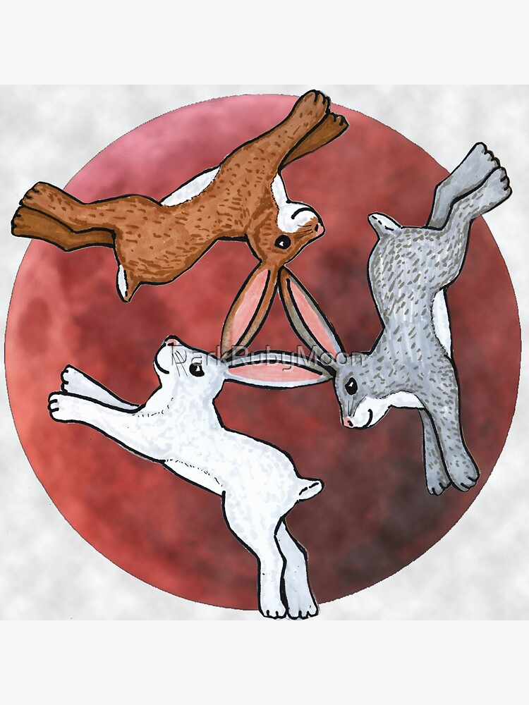 Three Hares by DarkRubyMoon