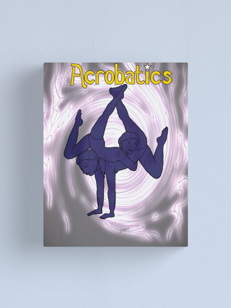 Alternate view of Gymnastic Acrobat Silhouette Canvas Print