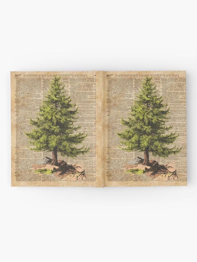Alternative Ansicht von Kiefer, Cedar Tree, Wald, Natur-Wörterbuch-Kunst, Weihnachtsbaum Notizbuch
