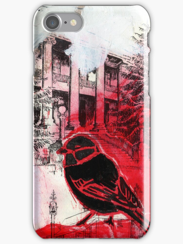 RB...Red Birdy iPhone case by zoe trap