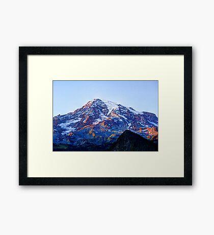 Alpine Glow on Rainier Framed Print