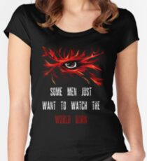 dark knight quote t shirts redbubble some men just want to watch the world burn women s fitted scoop t shirt