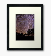 Startrails Framed Print