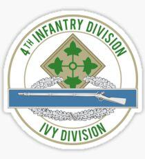 4th Infantry CIB Sticker