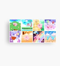 Kirby's Adventure - All 8 Levels Canvas Print