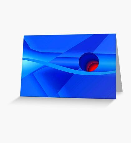 An Abstract of a Beachball  Greeting Card