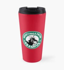 Greetings From Krampus - Coffee Cup Design with the Christmas Devil  Travel Mug
