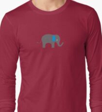 Cute Elephant with blue ears Long Sleeve T-Shirt