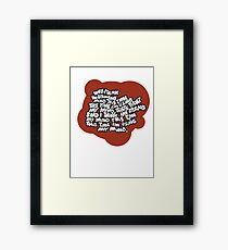 I think I'm losing my mind Framed Print