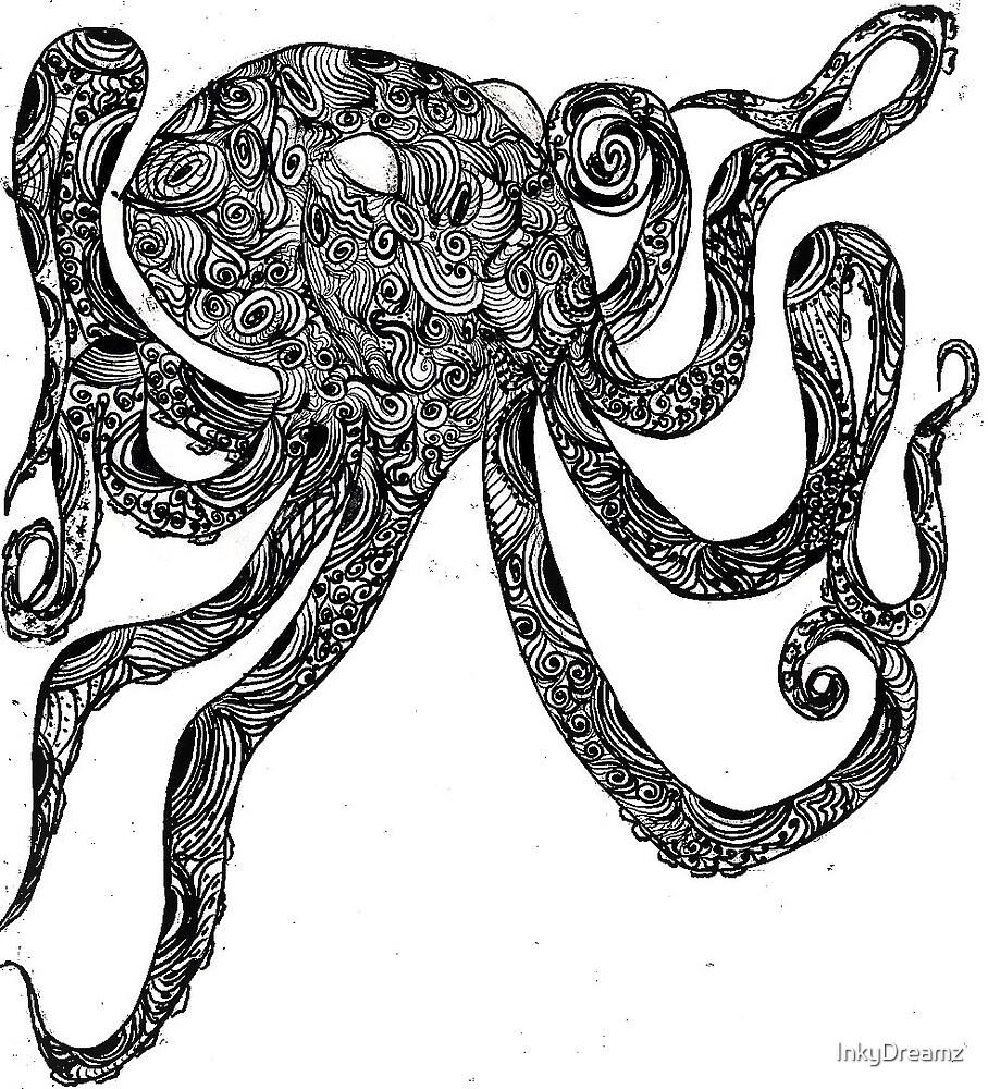 Octopus Swirly by InkyDreamz