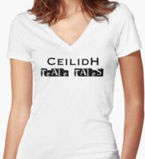 Teale Tales: Wyv Land of Magik Character T-Shirt - Ceilidh Women's Fitted V-Neck T-Shirt
