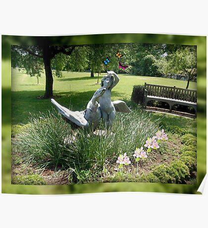 Pixie with Goose In the Garden, Skylands Manor Poster