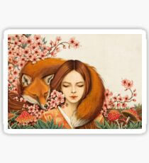 Red Fox Totem. Sticker