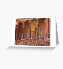 Evita at the Casa Rosata Greeting Card