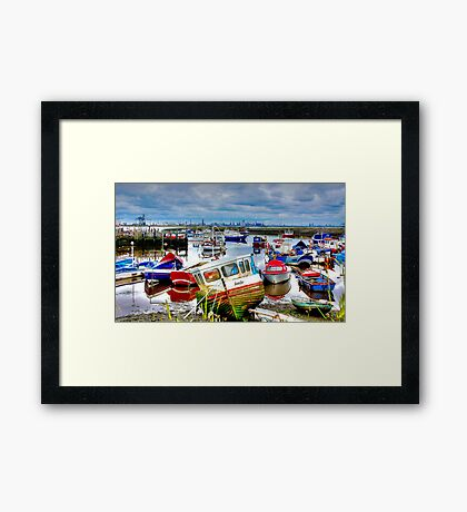 Down With The Boats Framed Print