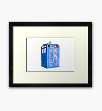 Doc and his Tardis Framed Print