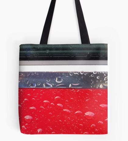 Wet red metal Tote Bag