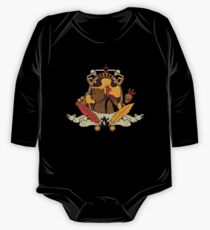 Bear & Bird Crest One Piece - Long Sleeve